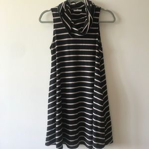 Turtleneck Flowy Stripe Dress